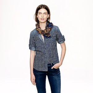 J. Crew Keeper Chambray Top in Star Dot